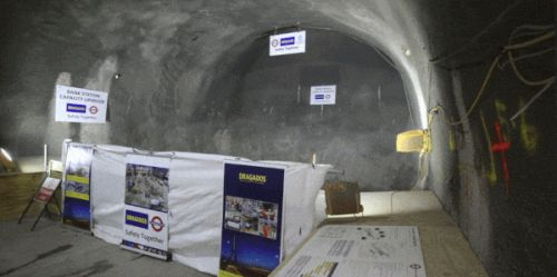 London Underground breaks through its new Bank tube station entrance