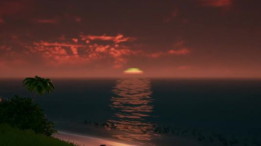 Have you seen the green flash at sunset in Sea Of Thieves?