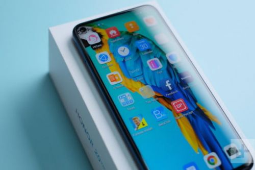 Honor 20 Poster Shows Punch-Hole Screen and Side Fingerprint Scanner