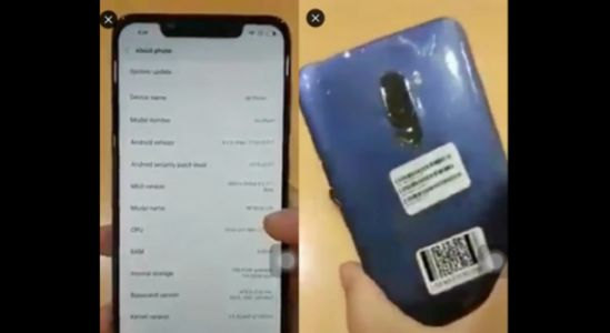 Alleged Xiaomi Pocophone Hands-On Video Leaked
