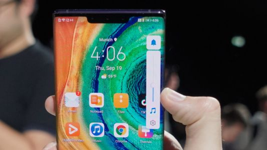 The Huawei Mate 30 Pro will not have accidental touches on its waterfall screen