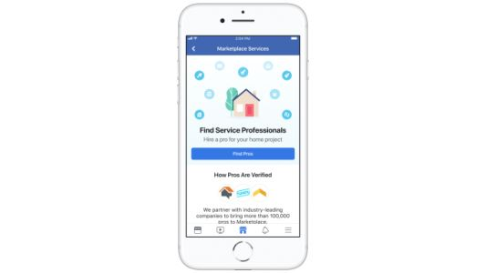 Facebook Marketplace expands into home services