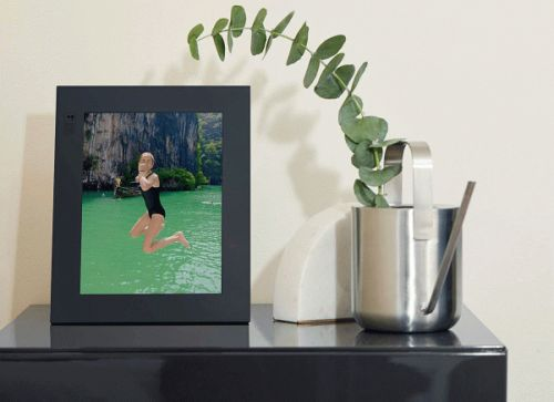 Aura is a next-gen digital photo frame with unlimited storage and gesture controls